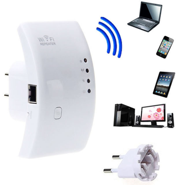 Wireless Repeater Reichweiten Wifi Signal 300Mbps 802.11N/G/B EU ...