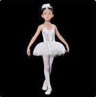 Bale dress & şapkalar ve eldiven çocuk zarif klasik beyaz kuğu gölü sahne dress dans bale tutu bale kostüm gerçekleştirmek