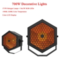 NEUE 700 watt Dekorative Lichter DJ Disco Sound Aktiviert Laser Projektor RGB Bühne Beleuchtung wirkung Lampe Licht Musik Weihnachten Party-in Bühnen-Lichteffekt aus Licht & Beleuchtung bei