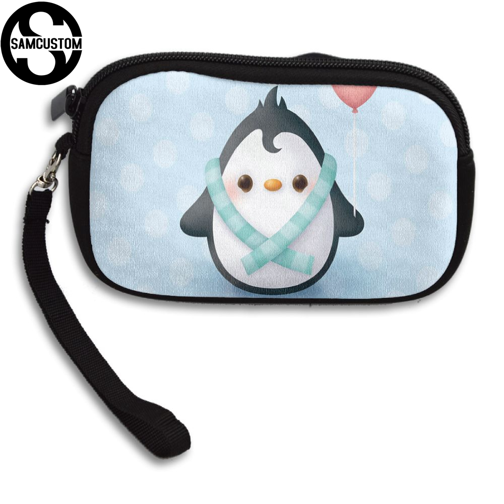 SAMCUSTOM Custom penguin 3D Print New Womens small purse male and female Small wallet Fashion Casual Girl Coin Purse