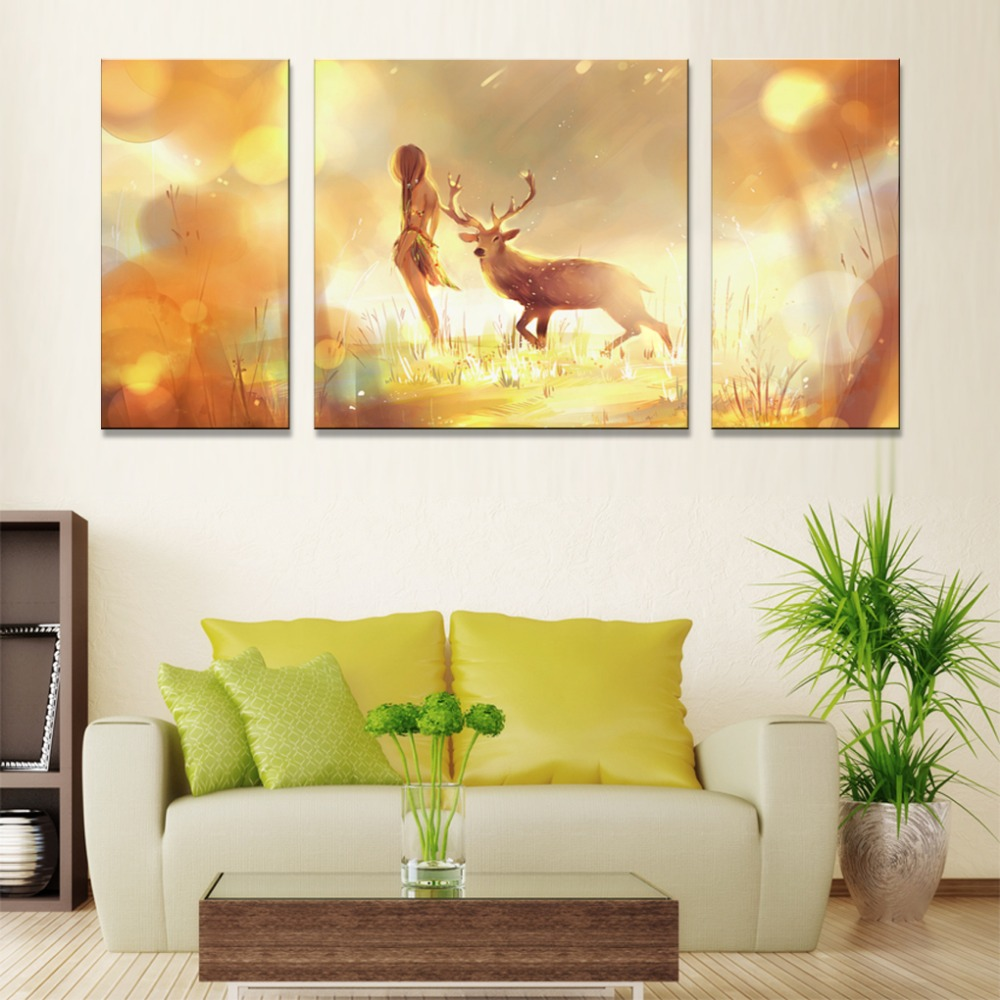 canvas wall art Nordic plaques abstract modern paintings on canvas ...