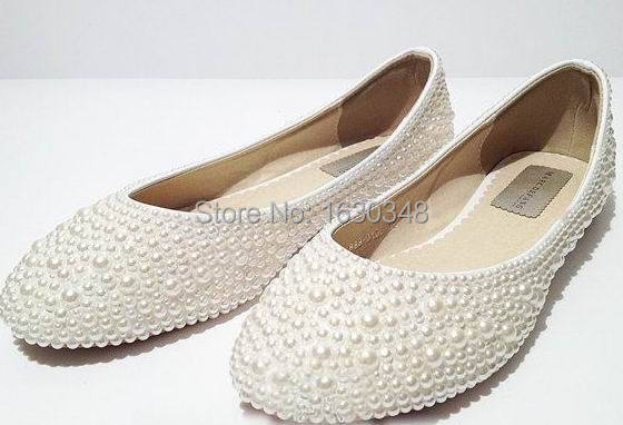 white pearl wedding flats dcfb0ddd1a
