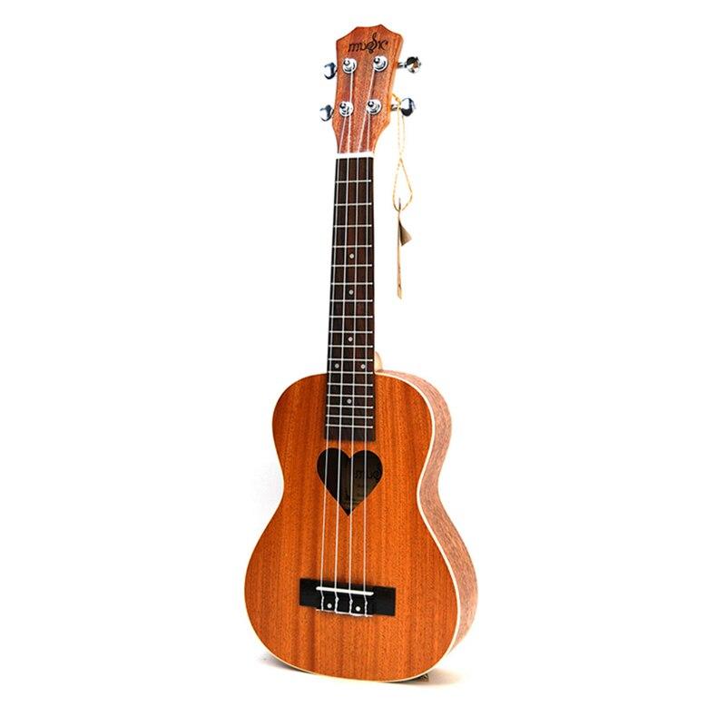SevenAngel 21 Ukulele Soprano Four Strings Hawaii Mini Guitar ukelele Acoustic guitar Heart pattern Guitarra Chitarra