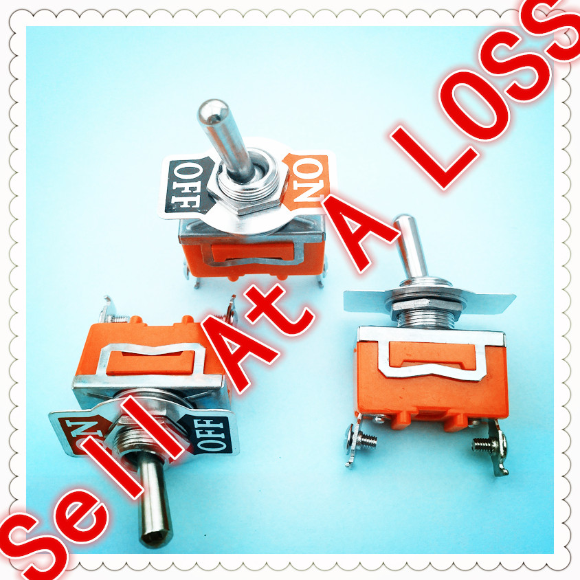 3pcs/lot E-TEN1021 2-Pin SPST 2 Terminal G109 ON-OFF 15A 250V Toggle Switch Good Quality Free Shipping