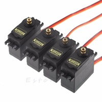 4pcs RC Servo MG995 Metal Gear High Speed Torque Of Helicopter Airplane Car Boat