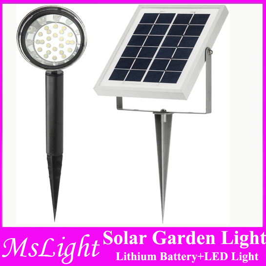 Lithium 24 Led 100 Lumen Solar Spotlight Flag Pole Light With 16 Feet Wire Automatically Working From Dusk To Dawn