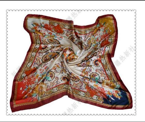 Xinjiang Uygur Wada Handkerchiefs Traditional Classics Print Square 90*90cm