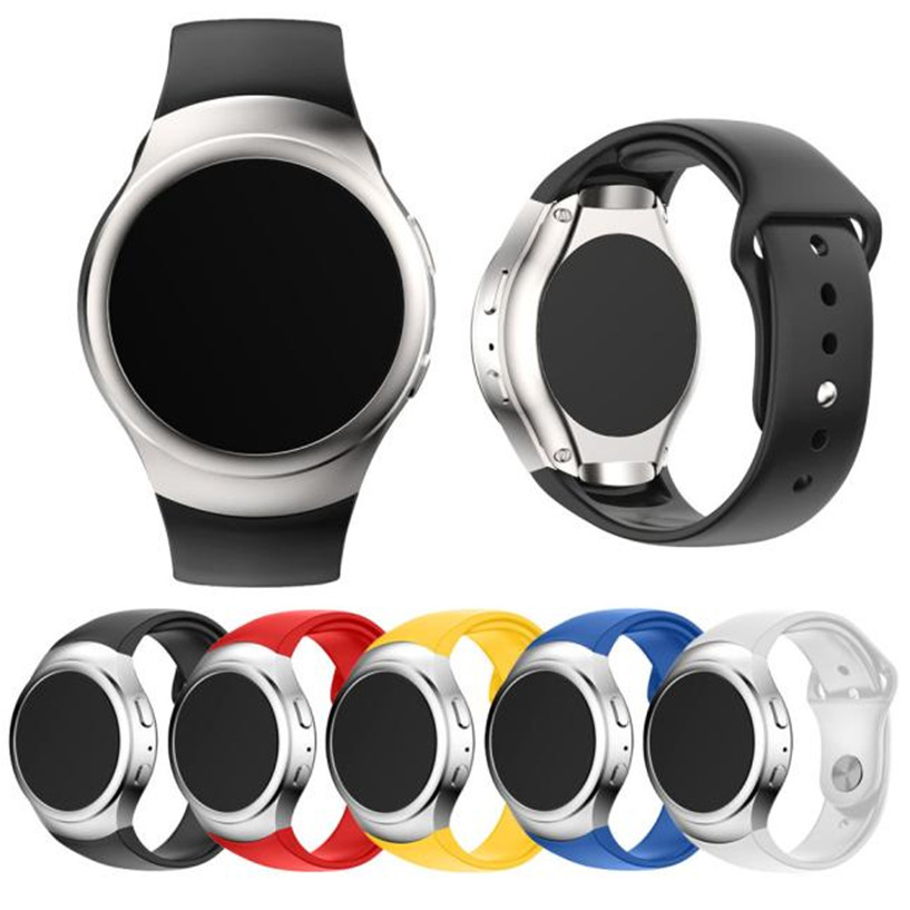 Fabulous Luxury Silicone Watch Band Strap For Samsung Galaxy Gear S2 SM-R720 Smart watch wholesale No25 luxury silicone watch replacement band strap for samsung gear fit 2 sm r360 wristband 100