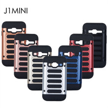 2 In 1 Business Fashion PC+TPU Silicone Anti-Drop Double Protective Armor Shockproof Phone Case For Samsung Galaxy J1 mini