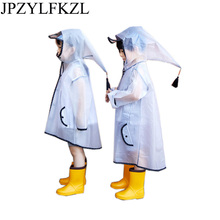 Cute Small Waterproof Polyester Rain Coat Boy Children Girls Windproof Poncho Kindergarten Student Baby Raincoat for children