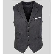 New Arrival Men Suit Dress Vest Men's Fitted Leisure Waistcoat Casual Business Jacket Tops five Buttons handsome men vest