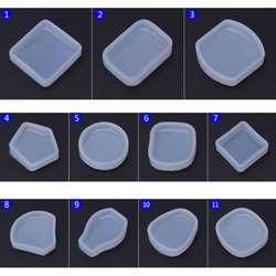 Силиконовые формы DIY изготовления ювелирных изделий круглый геометрический веер Форма кулон эпоксидной Изделия из смолы ювелирные