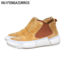 HUIFENGAZURRCS-Hot,2019 Spring new Korean version of high genuine leather leisure shoes, womens sports flat bottom shoes