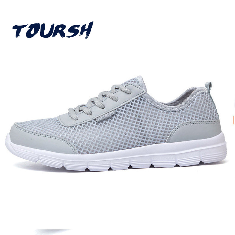 TOURSH Plus Size 35-47 2018 Summer Couple Shoes Women Casual Shoes Sneakers Breathable Lace Up Flats Shoes Unisex Tenis Feminino mwy women breathable casual shoes new women s soft soles flat shoes fashion air mesh summer shoes female tenis feminino sneakers