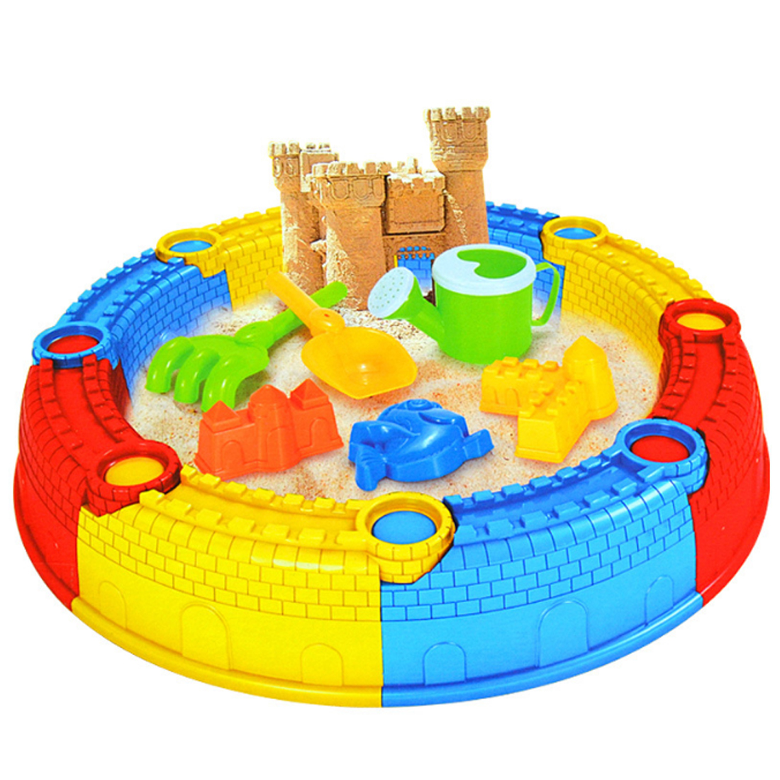Surwish Children Beach Sand Toys Sand Castle Set for Training Kids Operational Ability Outdoor Fun sand mold set
