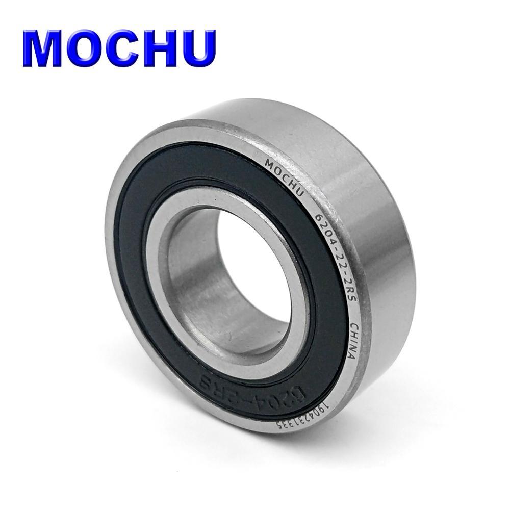 Free Shipping 6204-22 6204-22-2RS 22x47x14 22*47*14 47x22x14 MOCHU Deep Groove Ball Bearings ABEC-1 Single Row