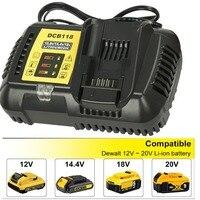Newest Fast Charger 4.5A DCB118 DCB101 for Dewalt 12V 14.4V 20V Li ion Battery high quality