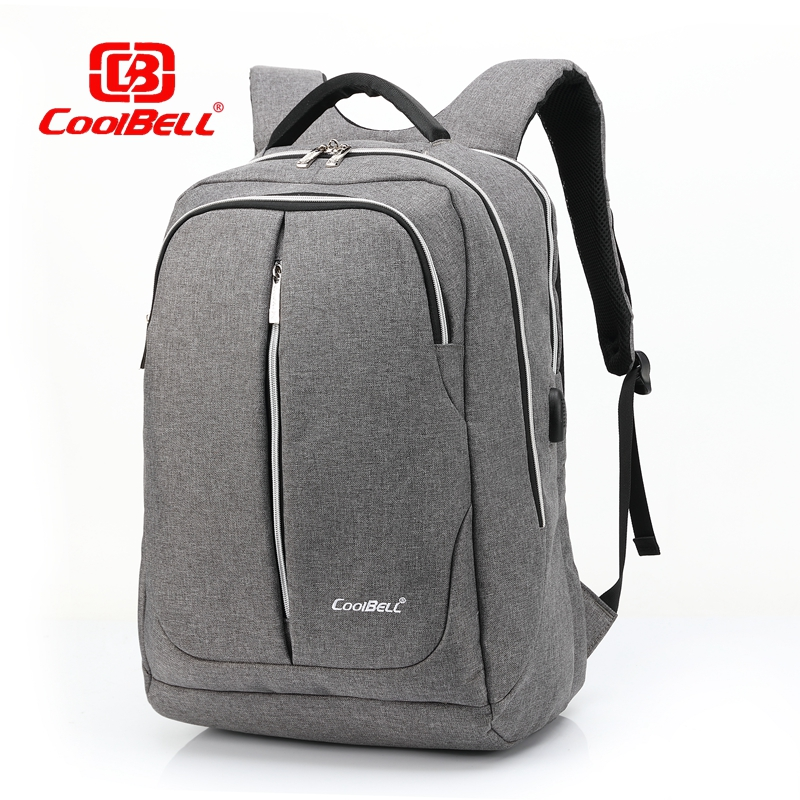 Cool Bell Business Backpack Men Women Laptop Backpack 15.6 inch Male Backpack w/ USB Fashion School Bags for Teenage Boys Girls 2018 fashion business ol women notebook bag backpack for teenage girls boys men male laptop computer bags female mochila bagpack