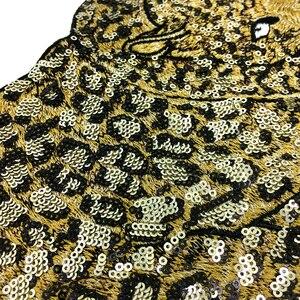 Image 5 - 2pc ヒョウビーズ刺繍パッチスパンコールアップリケ動物アップリケためのパッチを刺繍服 parches ropa AC1472