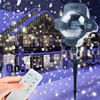 Tanbaby Christmas Holiday Snowflake Projector Outdoor LED Lamp Waterproof Lights Home Garden Snowfall Indoor Decoration