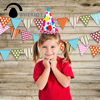 Allenjoy Photographic Background Wood Flag Dot Line Color Baby Happy Birthday Backdrops For Sale Photocall Fotografia