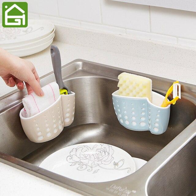 Kitchen Sink Sponge Holder.Kitchen Sink Sponge Holder Suction Cup Dry Basket Faucet Hanging