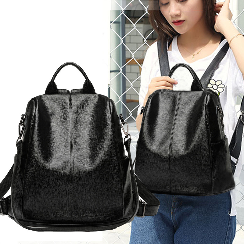 2019 New Anti Theft Backpack Women Leather Back Pack Large Capacity Rucksack for Teenage Girls Purse Backpack Mochila Feminina2019 New Anti Theft Backpack Women Leather Back Pack Large Capacity Rucksack for Teenage Girls Purse Backpack Mochila Feminina