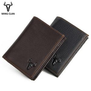 Кожаный кошелек для мужчин, RFID кошелек, мужской кошелек с отделением для карт, модный кошелек, карманный органайзер, кошелек