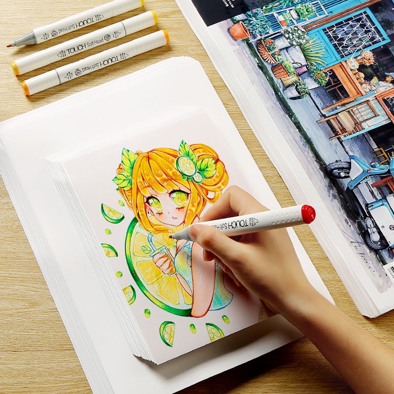 BGLN marker special paper A3/A4/A5 clothing industrial drawing paper student hand copy color lead hand painting art supplies