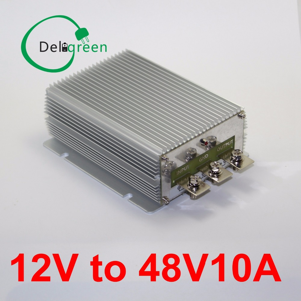12V to 48V 10A 480W DC DC Converter Regulator Car Step up boost module power supply free shipping waterproof regulator module step up dc 10v 12v 18v to dc 19v 15a 285w for solar power system voltage converter transformer