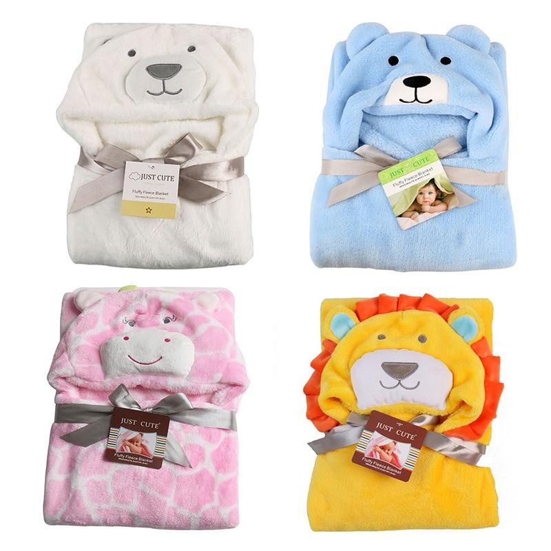 New Soft Hooded baby towel Animal Baby Bathrobe Cute Pattern Cartoon Baby Towel Character Kids Bath Robe Infant Towel blanket