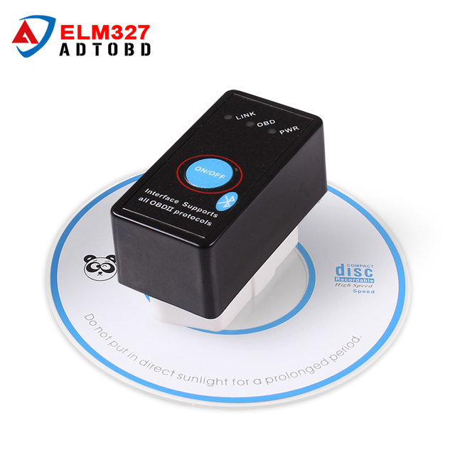 Mini ELM327 Switch ON/OFF Bluetooth V2.1 ELM 327 OBD2 OBD ii CAN-BUS Diagnostic tool Car Scanner Switch Works on Android