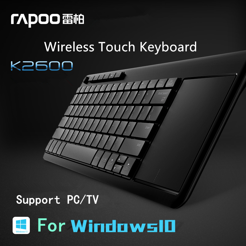 US $38 5 |New Original Rapoo K2600 2 4G Wireless Touch Keyboard Slim  Keyboards with Touch Pad Panel for TV Computer Tablet-in Keyboards from  Computer