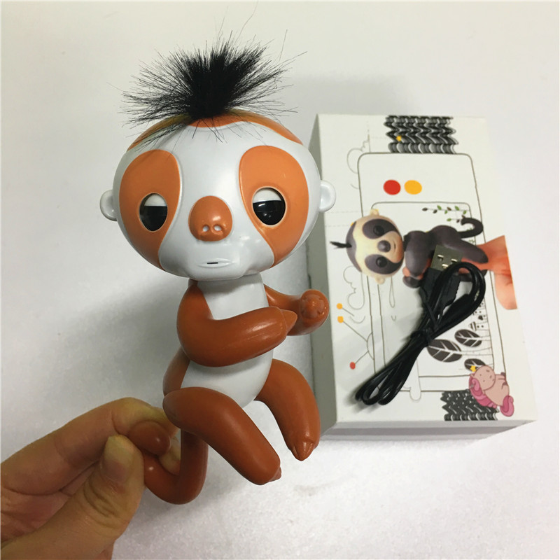 Finger-sloth-with-recording-function-with-charger-with-box-Cute-Smart-Colorful-Finger-monkey-Electronic-Pets-Christmas-Gift-Kid-2