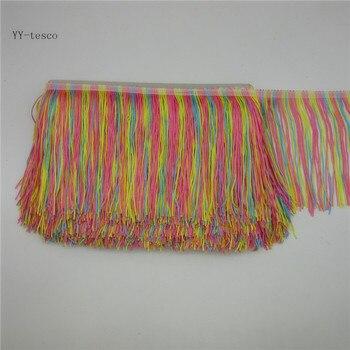 YY-tesco 10 двор 15 см широкий кружевной отделкой бахромой с бахромой обрезки для Латинской платье Одежда сцены аксессуары кружевной лентой с кис...