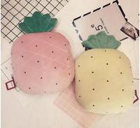 pineapple shaped plush pillow back cushion plush stuffed fruit dolls lumbar pillow cushion birthday gift