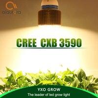 Cob led cresce a luz espectro completo cree cxb3590 100 w 12000lm 3500 k substituir hps 200 w lâmpada de crescimento da planta led indoor iluminação