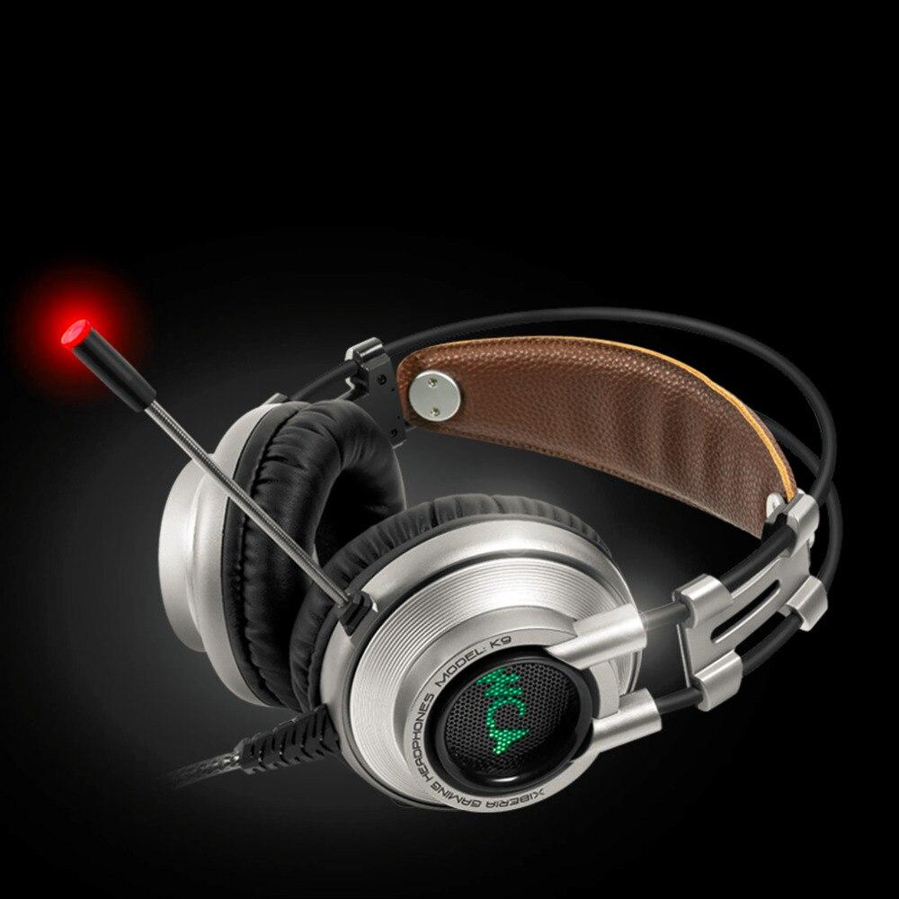 ФОТО Good Quality For XIBERIA K9U Super Stereo Bass Gaming Music Computers PC Gamers Headbands With Microphones Gaming Headphones