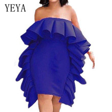 YEYA New Arrival Multiple Pleated Wrapped Chest Sexy Dress Women Summer Two Ways of Wear Elelgant Celebrity Party Longue