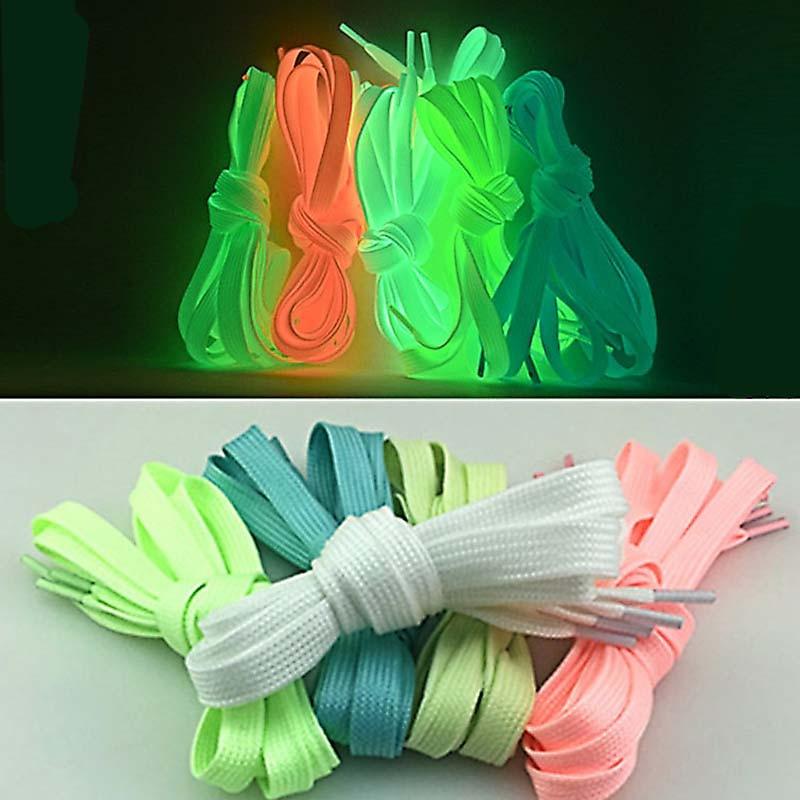 6 Pairs 100 cm Luminous Ladies Shoes Shoelace Glow In The Dark Colorful Fluorescent Sport Shoe Laces Shoelace for Women Men LB