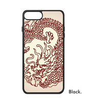 China Mythical Dragon Loong Phoenix Totem Symbol Auspicious Bless Chinese Phone Case For IPhone X 7