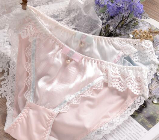 100% Real Photos M L XL XXXL 3XL 5XL Plus Size Lovely Cute Lolita Kawaii Princess Sexy Lace Pearls Bow Panties Underwear Brief(China)