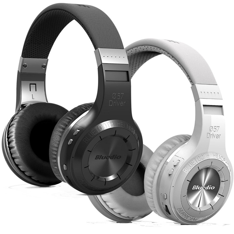 Micro FM Radio V4.1 Over ear headphones 2017 For Bluedio H+ Bluetooth headsets Stereo Wireless headphones Mic