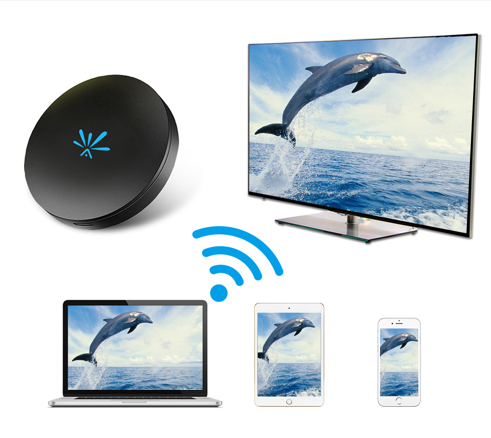 2019 WIFI Display Receiver Mirroring Dongle Wireless HDMI Adapter Screen Share Support Netflix YouTube Media Streamer HD TV