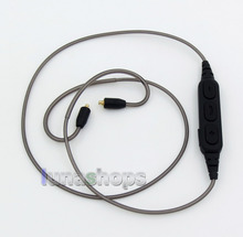 Aluminum Foil Mic Remote Wireless Bluetooth Earphone Cable For MMCX Shure se535 se846 se315 se215 LN005879
