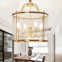 Американский стиль все Cooper светодиодный подвесные светильники для помещения и улицы подвесные лампы фойе коридор, ресторан для столовой, П