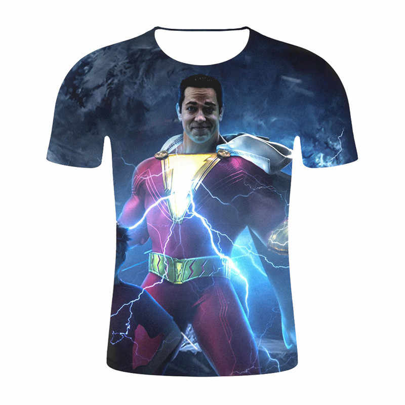 ジャーン 2019 最新コミックコスプレ衣装の布トップス男性 3D プリント男性半袖 Tシャツ男性圧縮シャツ