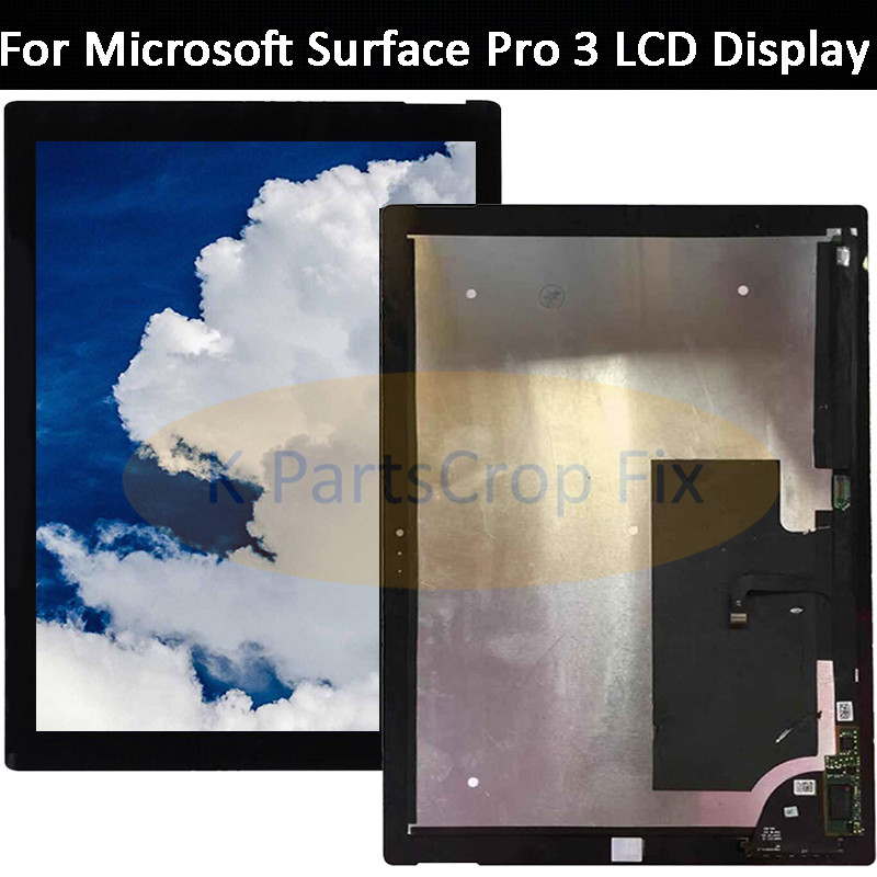 XJS 12 Touch Screen Replacement with Touch Panel Digitizer Glass /& LCD LED Display for Microsoft Surface Pro 3 TOM12H20 V1.1 2160X1440