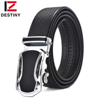 DESTINY Top Genuine Leather Belt Men Luxury Famous Brand Designer High Quality Strap Male Automatic Belt