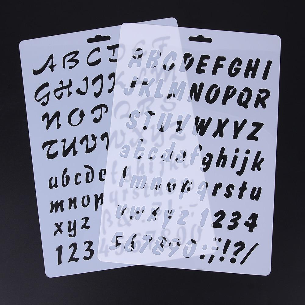 Alphabet Stencil For Cake Decorating